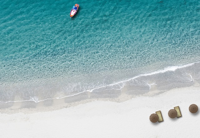 beach, bird's eye view, drone