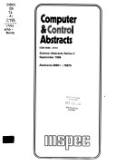 Computer & Control Abstracts