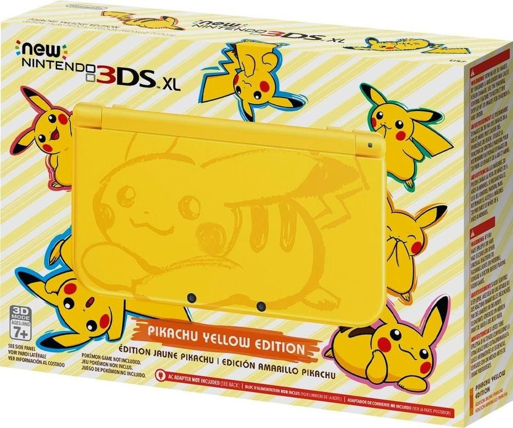 Pikachu Yellow Edition New Nintendo 3DS XL Console - Brand New - Ships Free...