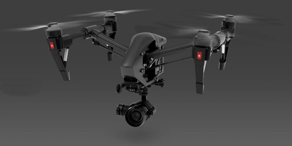 DJI Inspire 1 X5 Pro Black with Zenmuse XT Thermal Camera Bundle ...