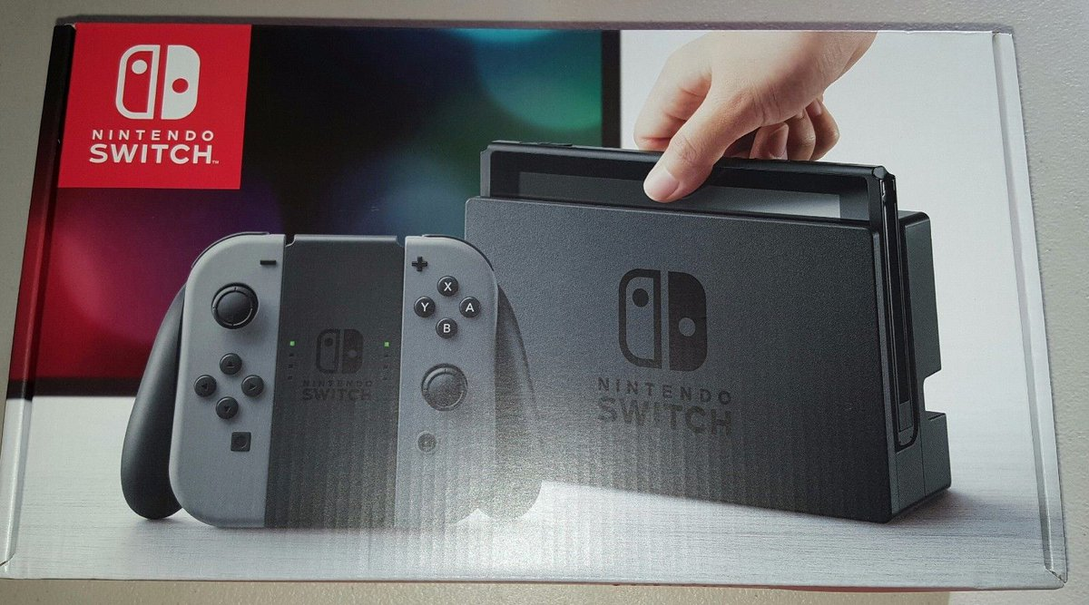 #Game Nintendo Switch 32GB Gray Console with Gray Joy-Con Brand New...