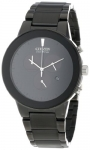 Citizen Eco-Drive Men's Black Ion Plated Axiom Strap Watch